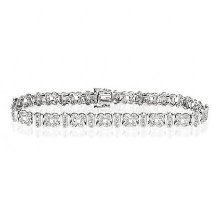 9K White Gold 0.50ct Diamond Bracelet, G1327